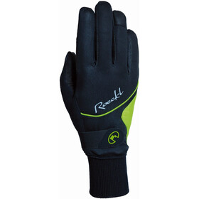 Roeckl Wallis Bike Gloves Dame black/yellow
